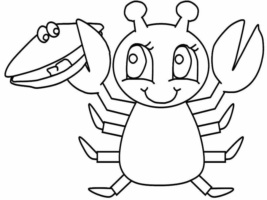 Dibujos para colorear: Langosta imprimible, gratis, para los niños y ...