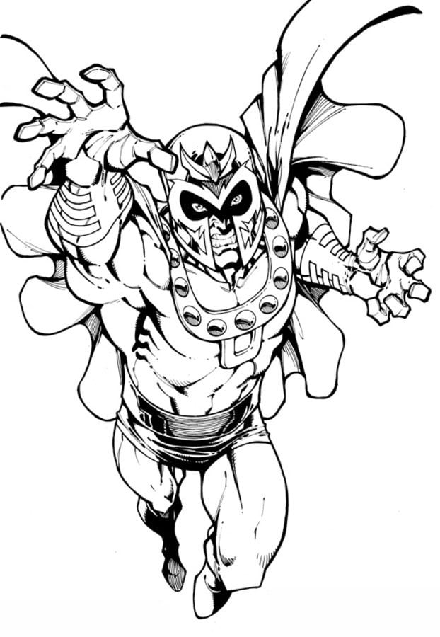 Coloring pages magneto printable for kids adults free for Magneto coloring pages