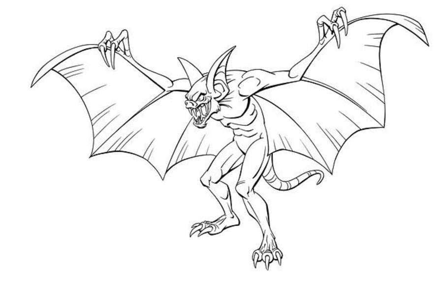Coloring pages: Man-Bat, printable for kids & adults, free