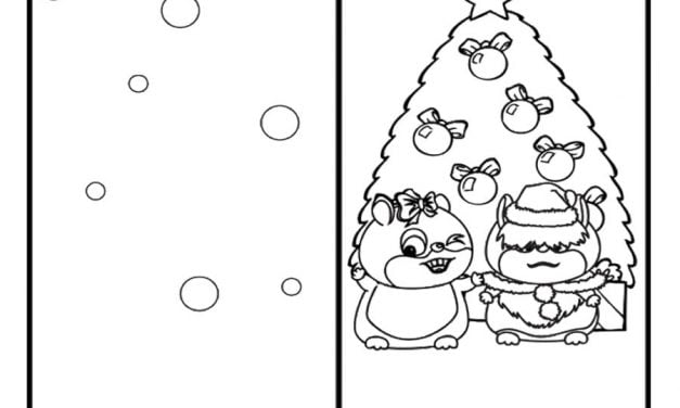 Coloring pages: Merry Christmas Cards
