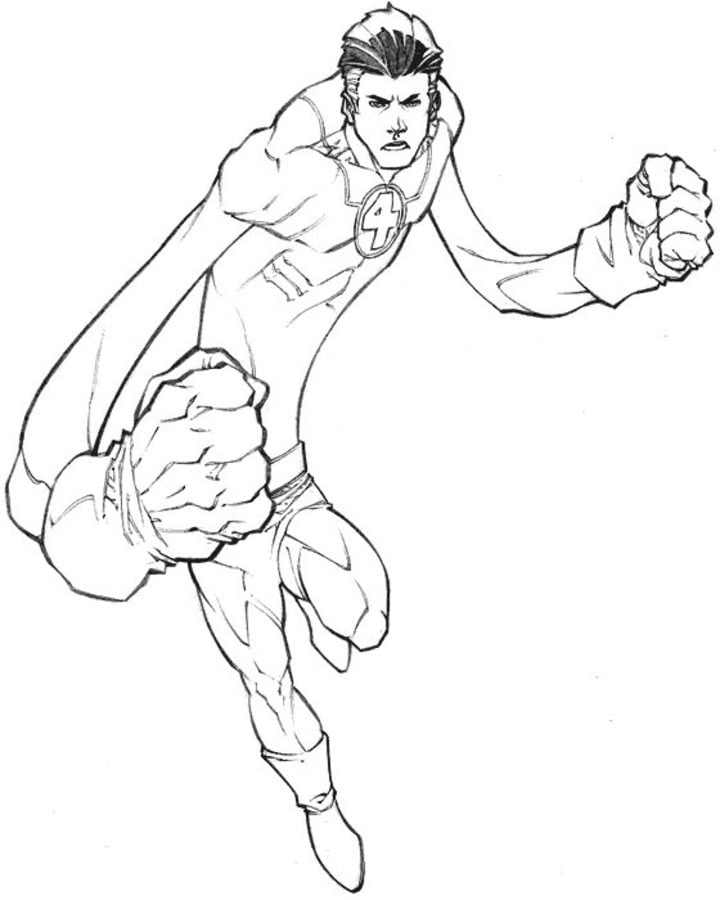 Coloring Pages Mister Fantastic Printable For Kids