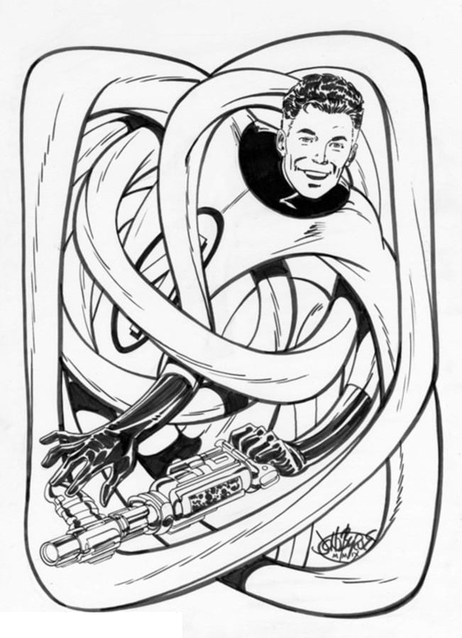 Coloring pages Mister Fantastic