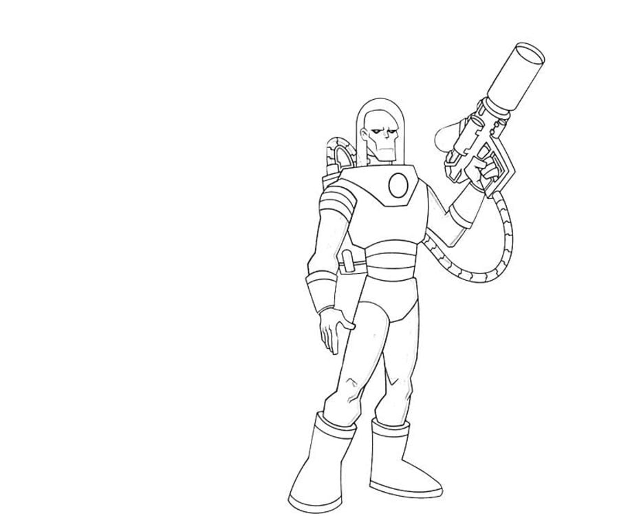 Coloring Pages Coloring Pages Mr Freeze Printable For Kids