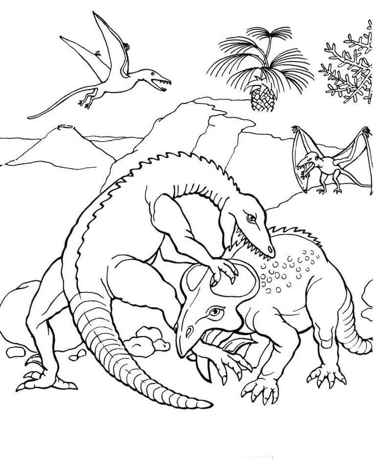 Disegni Da Colorare: Pteranodonte Stampabile, Gratuito