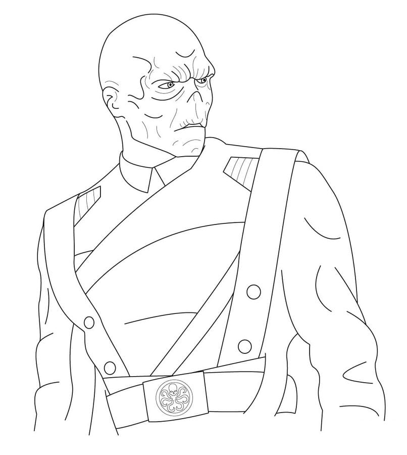 red skull coloring pages comics marvel
