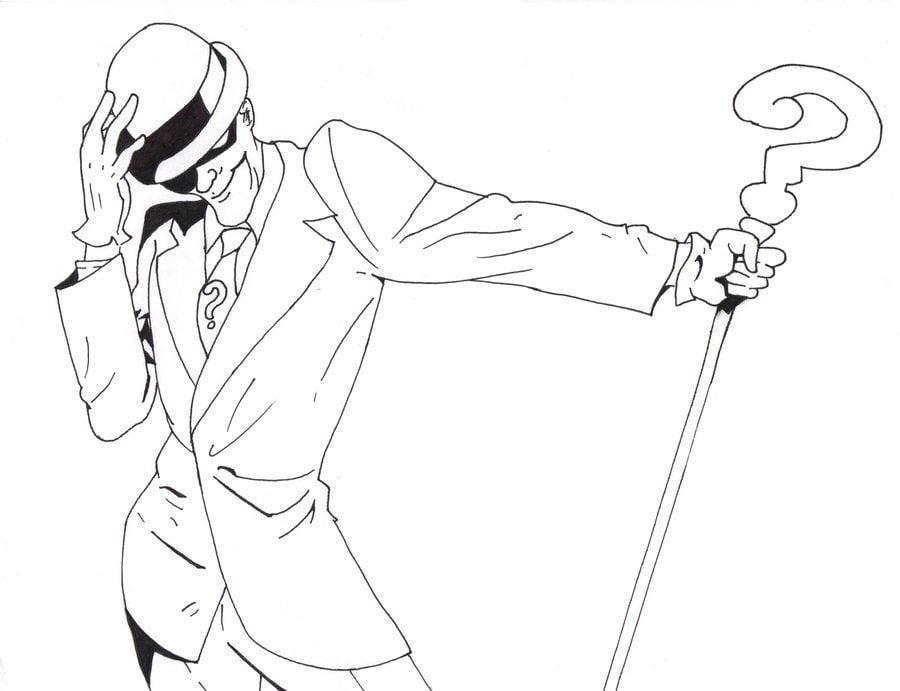 Ausmalbilder Batman Logo: Ausmalbilder: Ausmalbilder: Riddler Zum Ausdrucken