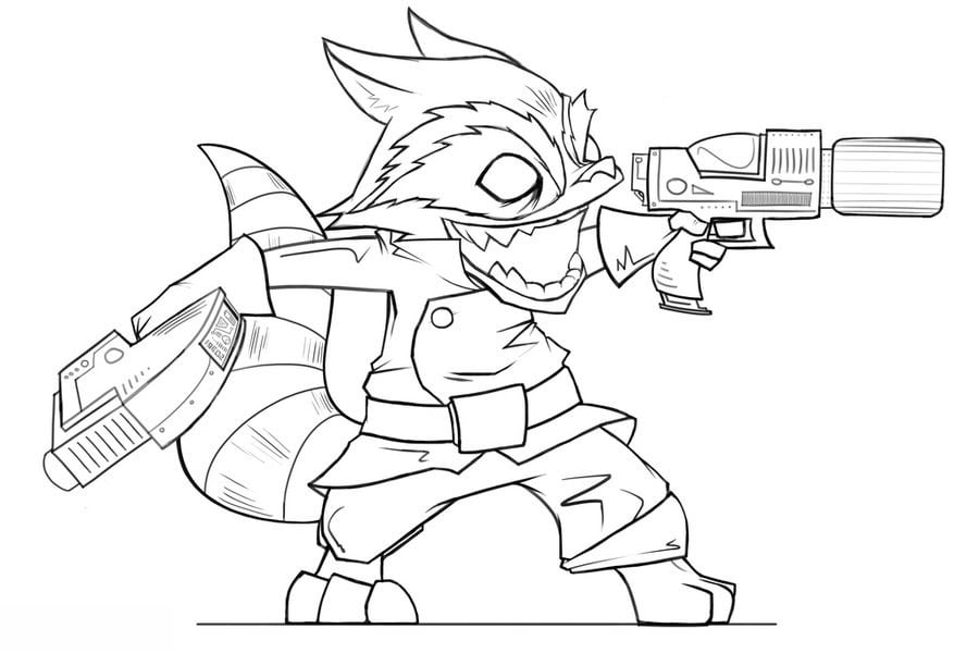 Coloring pages: Rocket Raccoon, printable for kids & adults, free