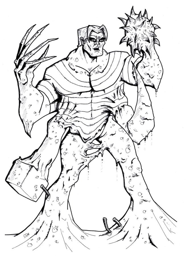 Coloring pages Coloring pages Sandman printable for
