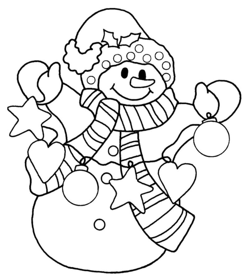 childrens coloring pages snowman shape - photo#4