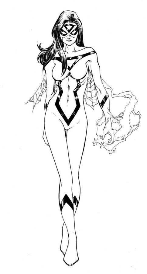 Coloring Pages Coloring Pages Spider Woman Printable For Kids