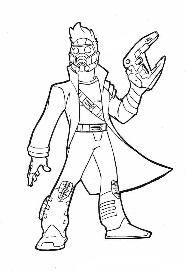 Dibujos para colorear: Star-Lord imprimible, gratis, para los niños ...