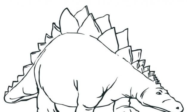 Coloring pages: Stegosaurus