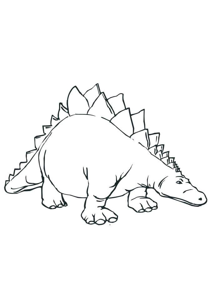Disegni Da Colorare Stegosauro Stampabile Gratuito Per