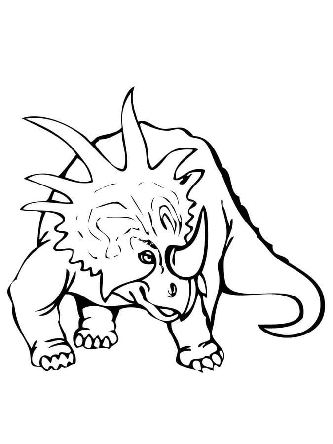 ausmalbilder styracosaurus zum ausdrucken kostenlos für