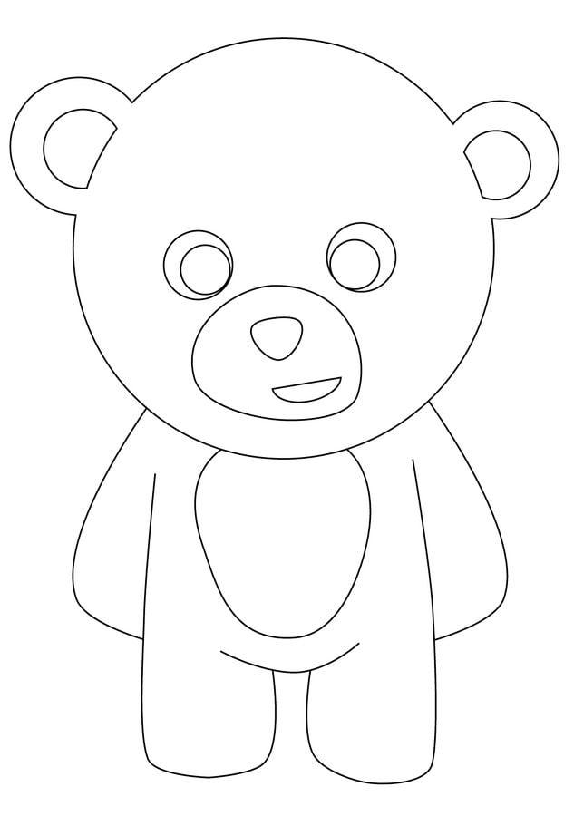 Disegni da colorare disegni da colorare orsacchiotto - Orsacchiotto da colorare in ...