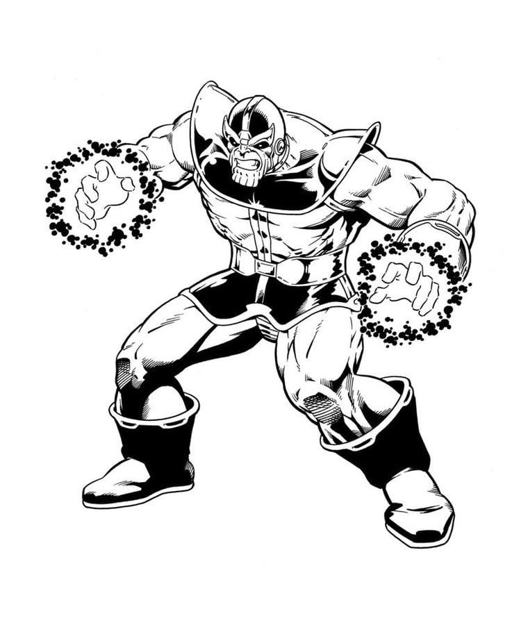 Hulk Bilder Zum Ausmalen: Ausmalbilder: Ausmalbilder: Thanos Zum Ausdrucken