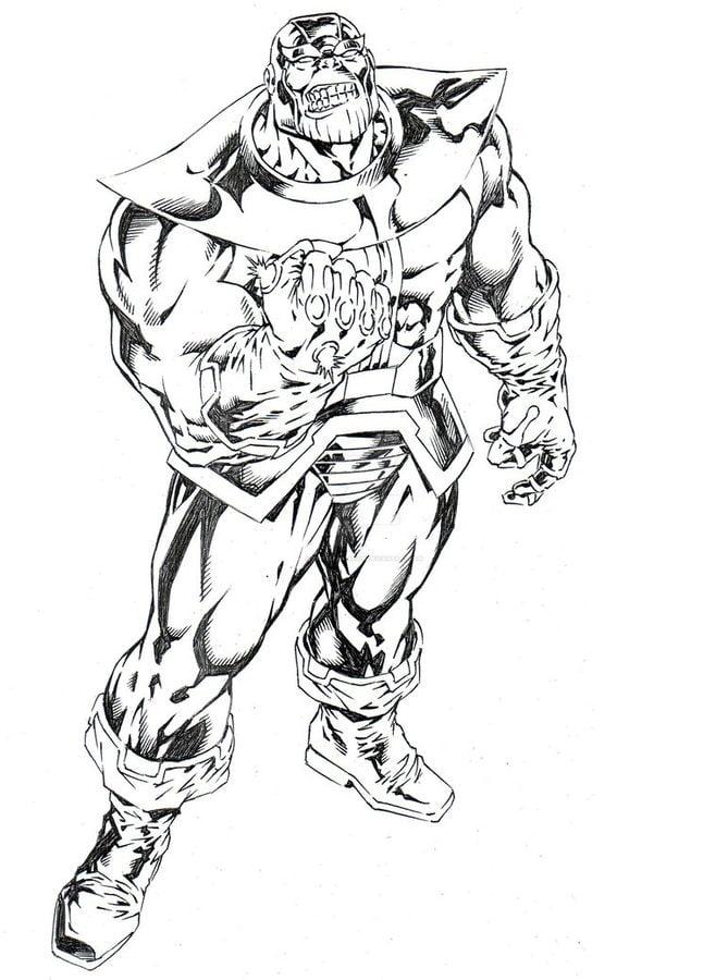 Ausmalbilder Marvel: Ausmalbilder: Ausmalbilder: Thanos Zum Ausdrucken