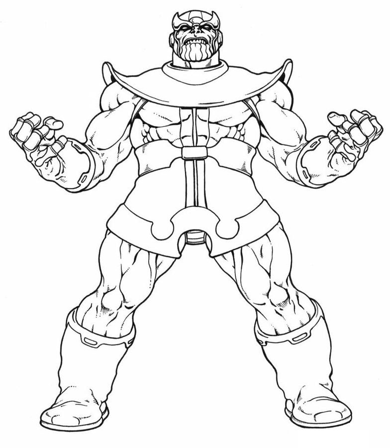 Thanos Coloring Pages Comics Marvel