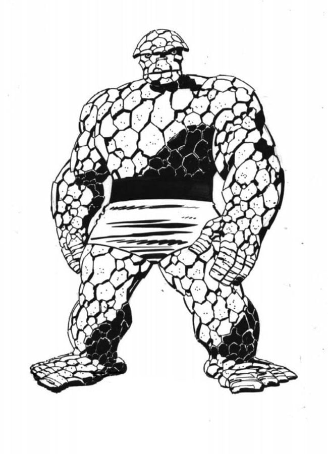Coloring pages Ben Grimm Thing