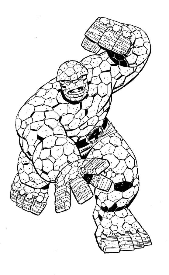 Coloring Pages Ben Grimm Thing Printable For Kids