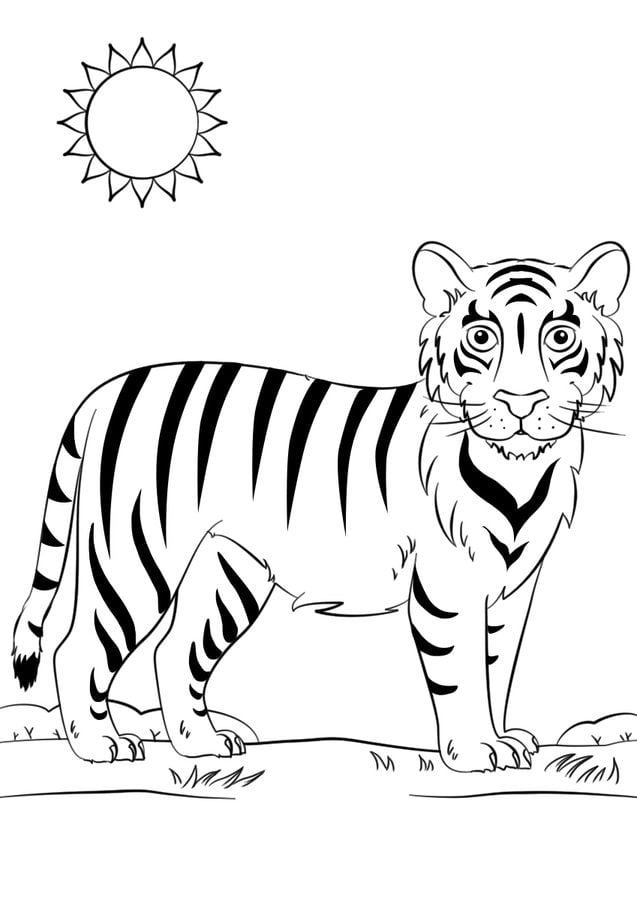 Berühmt Tiger Malvorlagen Zum Ausdrucken Fotos - Ideen färben ...