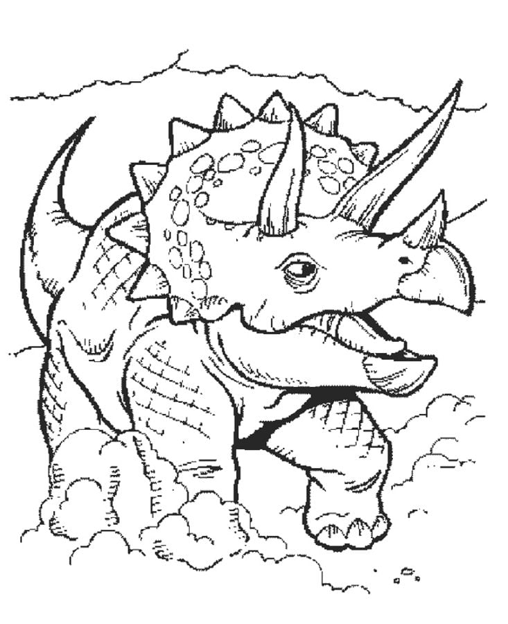 ausmalbilder triceratops zum ausdrucken kostenlos für