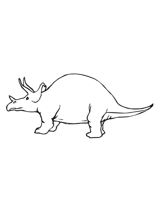Disegni Da Colorare Disegni Da Colorare Triceratopo