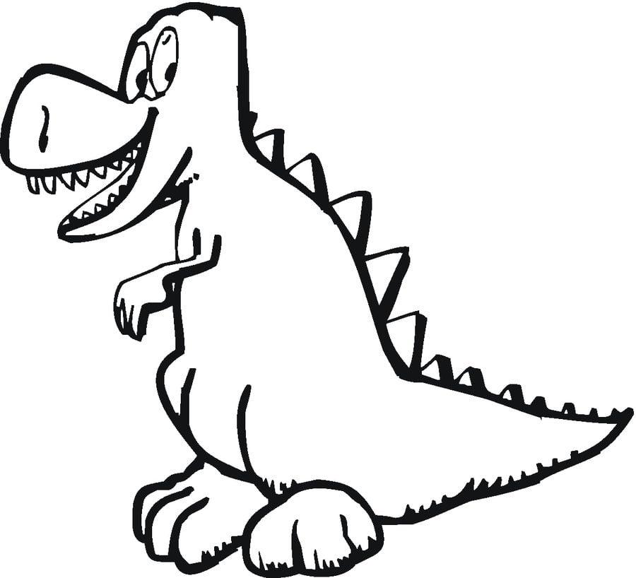 тираннозавр рекс картинки для разукрашивания отличительная черта эркерных