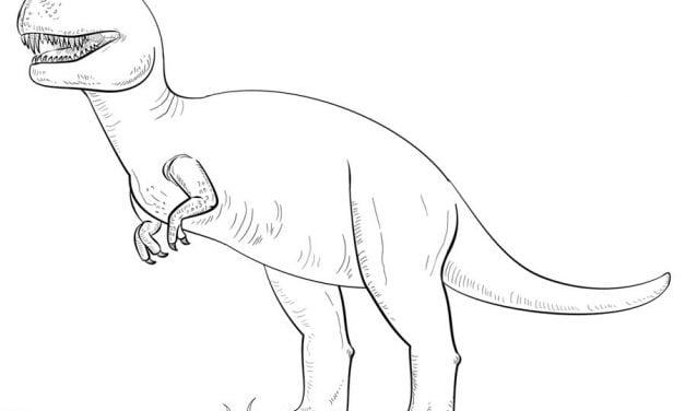 Ausmalbilder: Tyrannosaurus