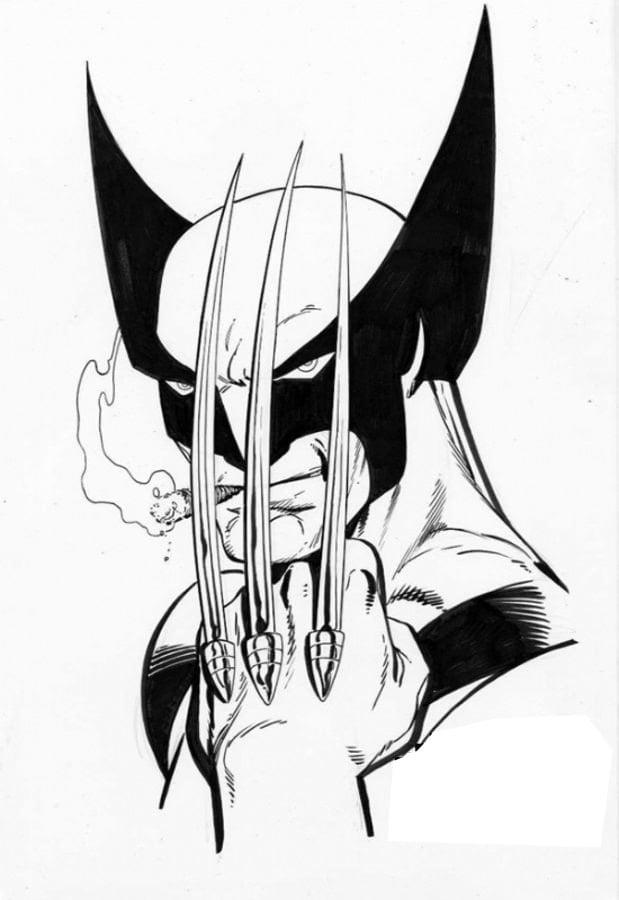 Dibujos para colorear: Wolverine imprimible, gratis, para los niños ...