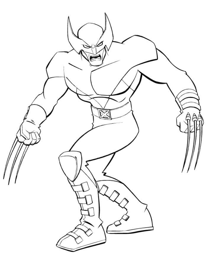 Disegni da colorare disegni da colorare wolverine - Wolverine dessin ...