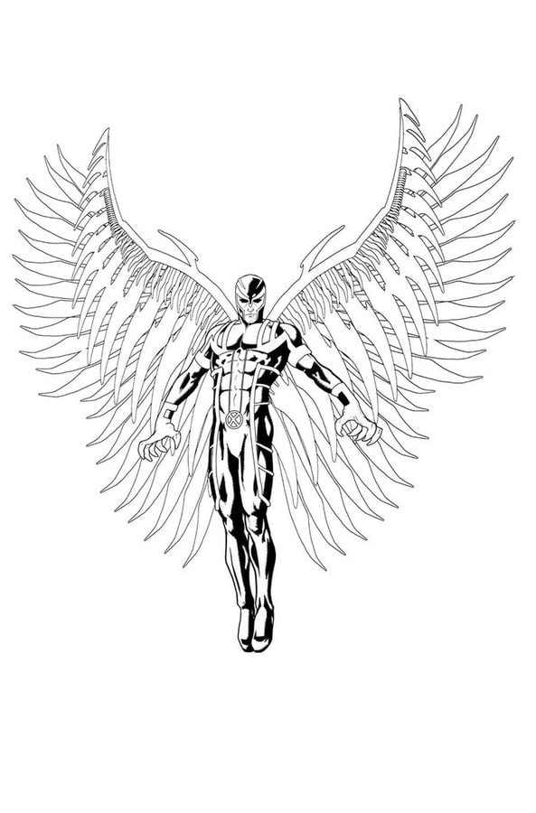 Ausmalbilder Marvel Helden Angel: Ausmalbilder: Angel Zum Ausdrucken, Kostenlos, Für Kinder