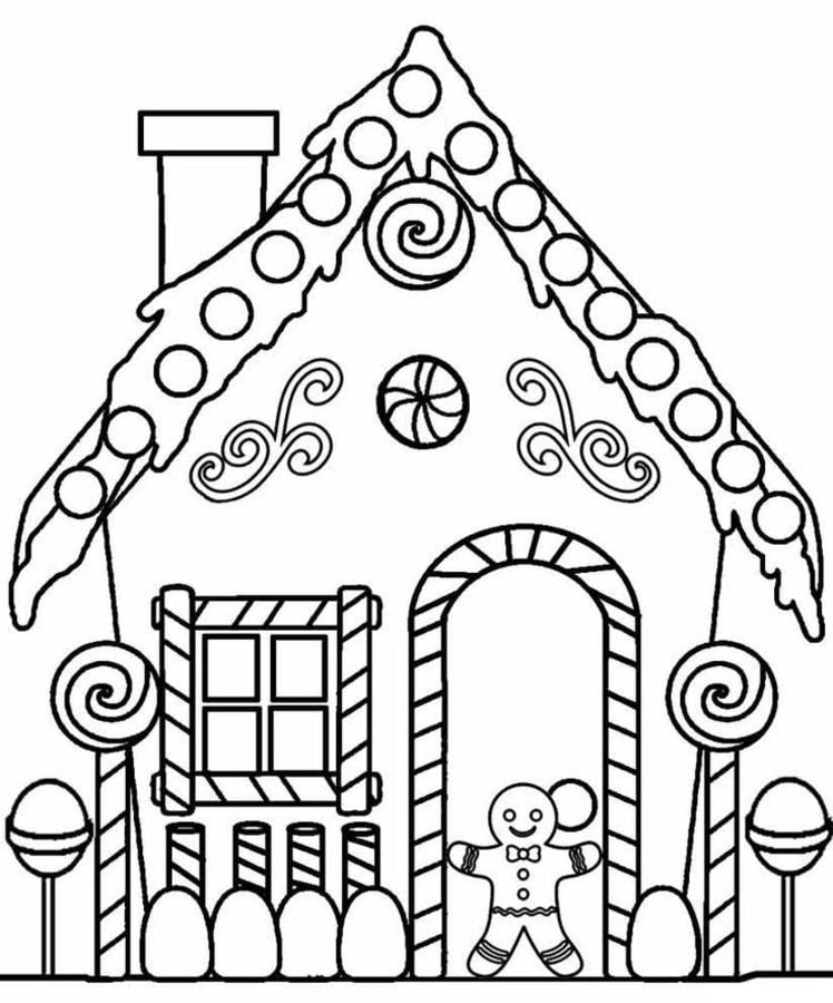 Coloring Pages Gingerbread House Printable For Rhprintmaniaonline: Holiday House Coloring Pages At Baymontmadison.com