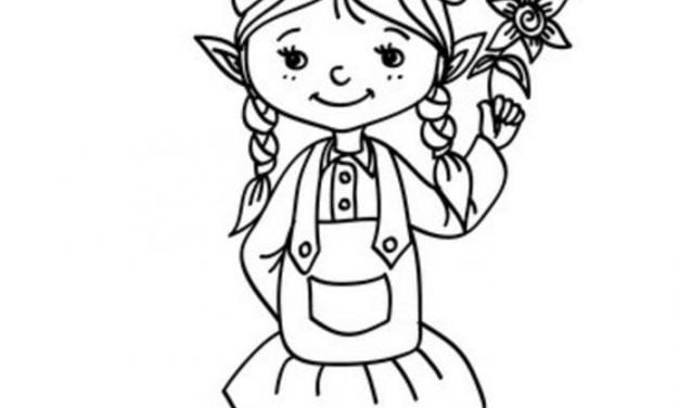 Coloring pages: Elf