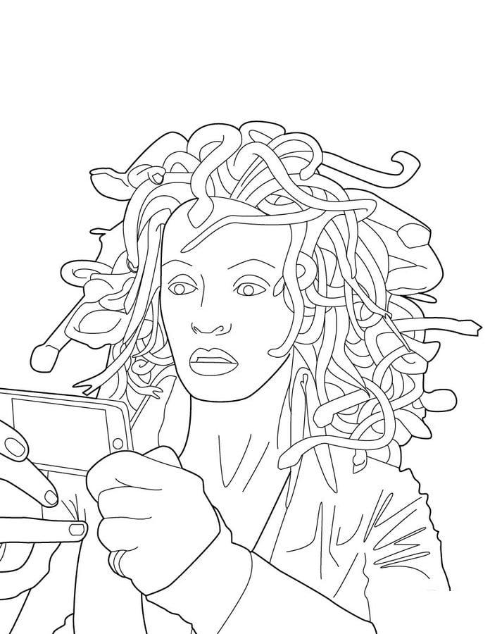 Ausmalbilder Marvel: Ausmalbilder: Ausmalbilder: Medusa Zum Ausdrucken