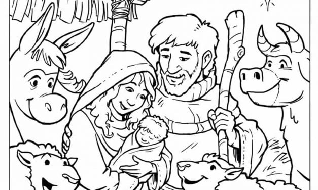 Coloring pages: Nativity scene
