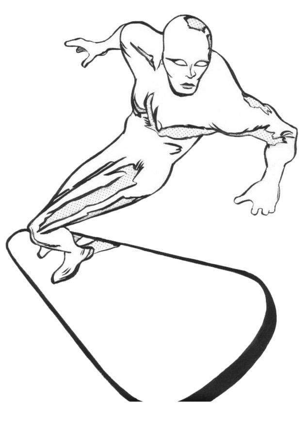 silver surfer coloring pages - dibujos para colorear silver surfer imprimible gratis