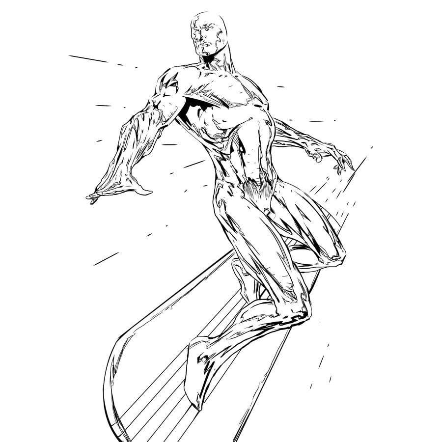 Ausmalbilder Silver Surfer Zum Ausdrucken Kostenlos F 252 R