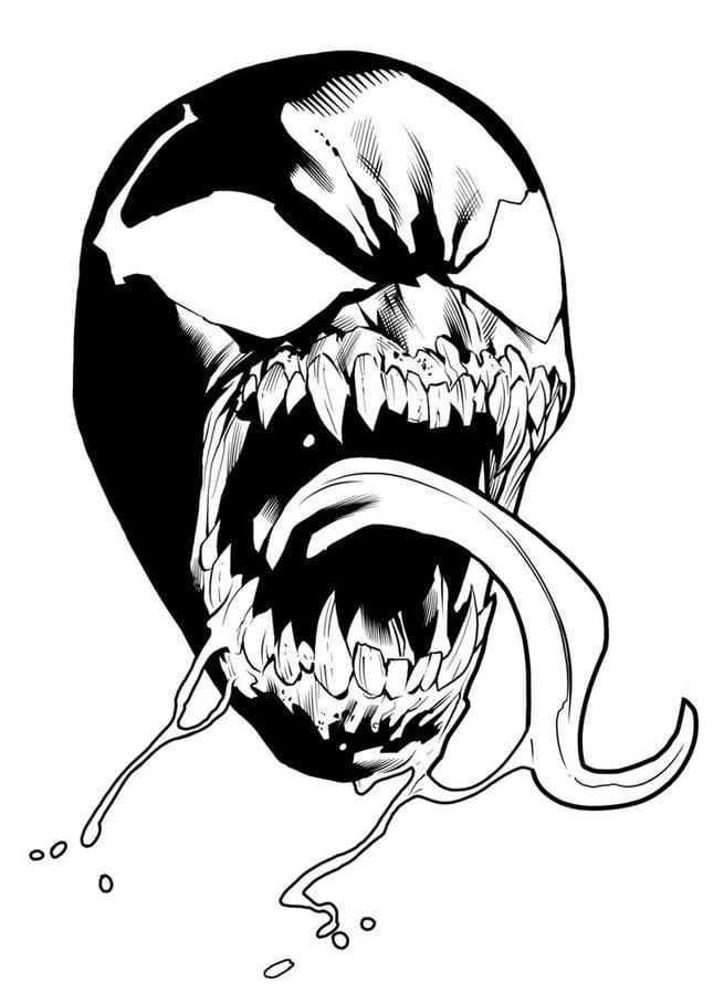 Kolorowanki Kolorowanki Venom Do Druku Dla Dzieci I