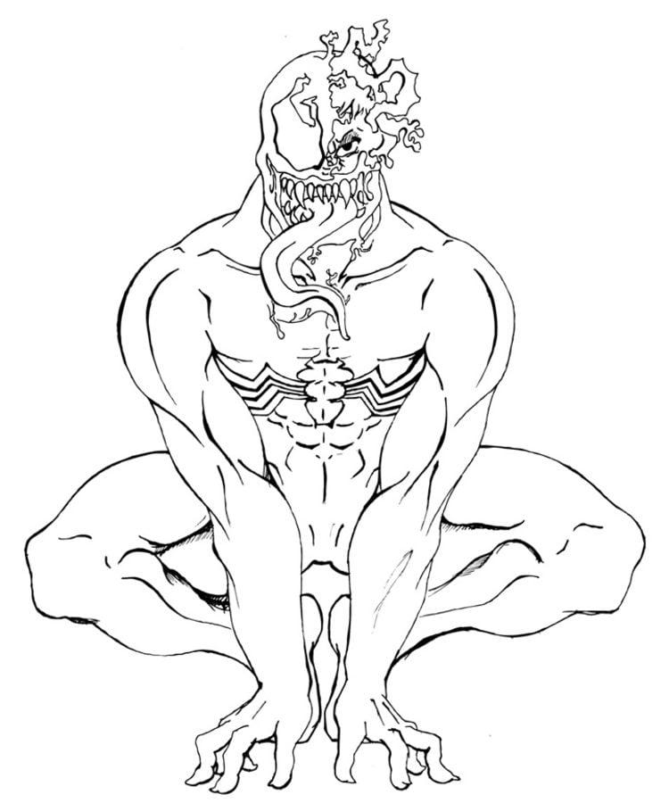 Ausmalbilder Ausmalbilder Venom Zum Ausdrucken Kostenlos Für