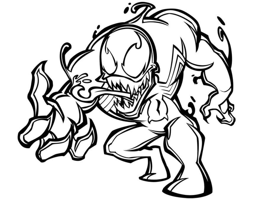 Disegni Da Colorare: Disegni Da Colorare: Venom Stampabile