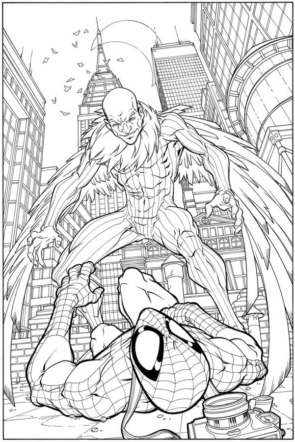 Vulture Marvel Coloring Pages