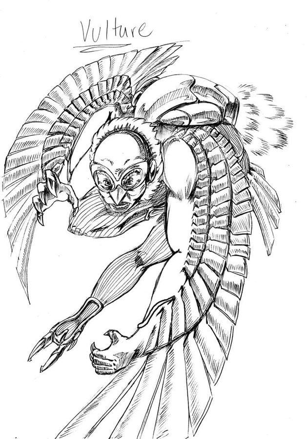 Ausmalbilder Ausmalbilder Vulture Zum Ausdrucken