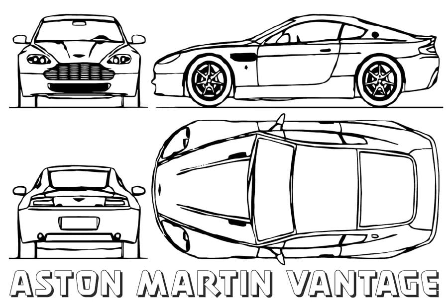 Coloring pages: Aston Martin, printable for kids & adults, free