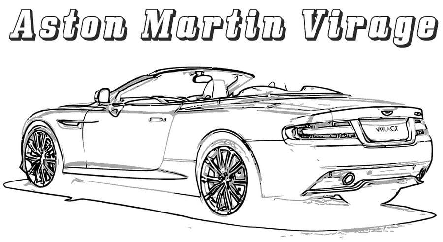 Kolorowanki Aston Martin Do Druku Dla Dzieci I Dorosłych