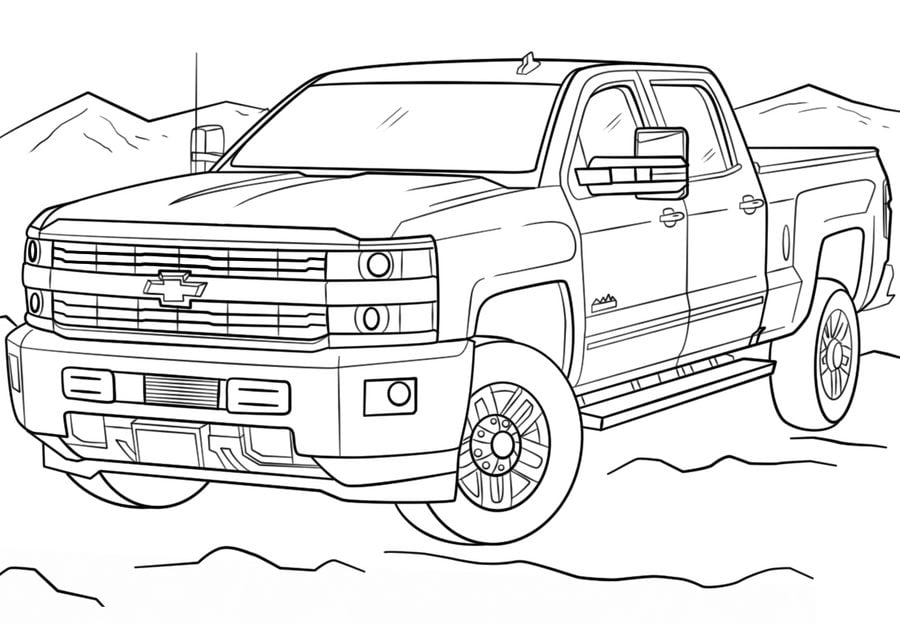Coloring Pages Coloring Pages Chevrolet Printable For