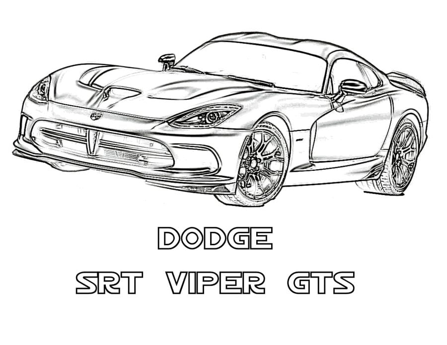 Coloring pages: Dodge, printable for kids & adults, free