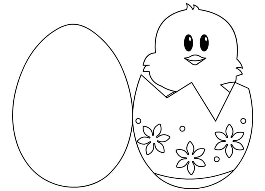 Шаблон яйцо для открытки