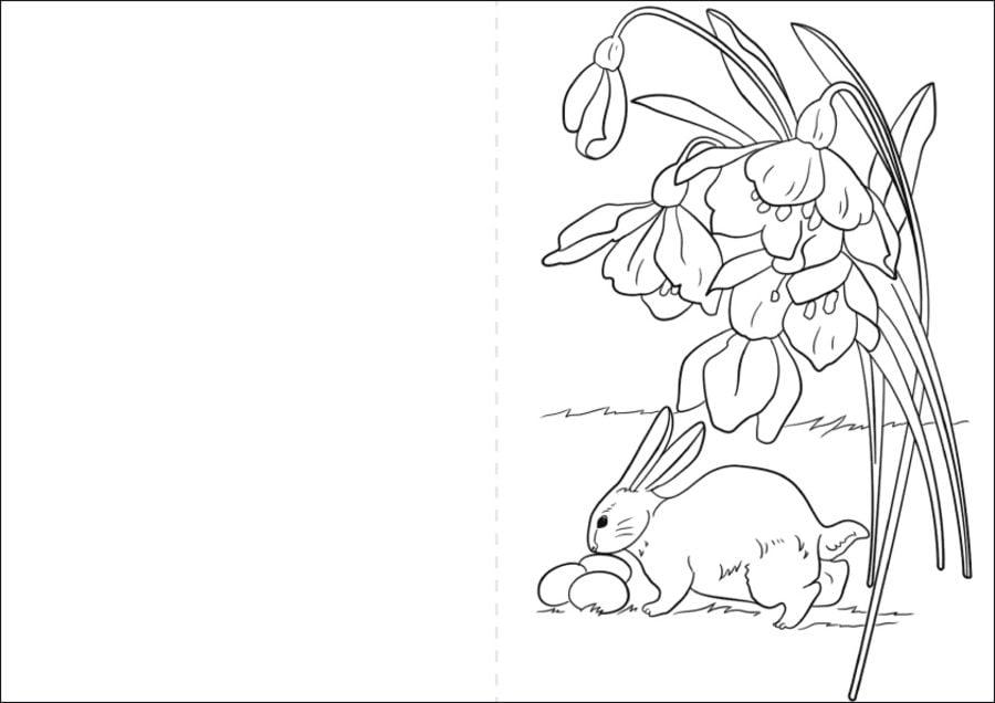 Kartki wielkanocne Kolorowanki Święta Wielkanoc