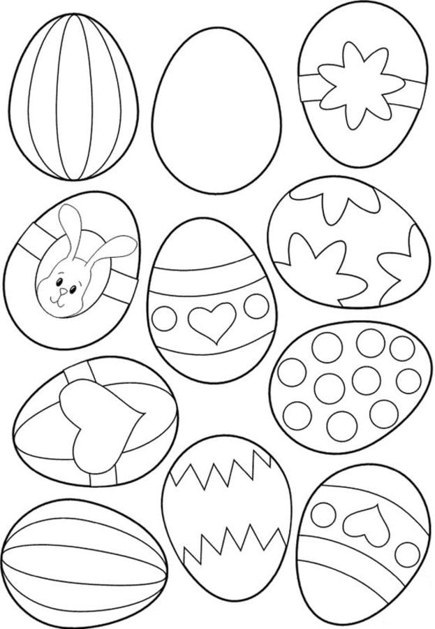 Free Printable Easter Egg Coloring Pages For Kids | 900x623
